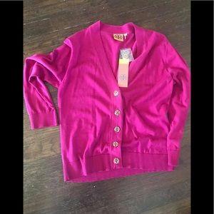 Sweaters - TORY BURCH CARDIGAN SWEATER! NEW! SIZE lg